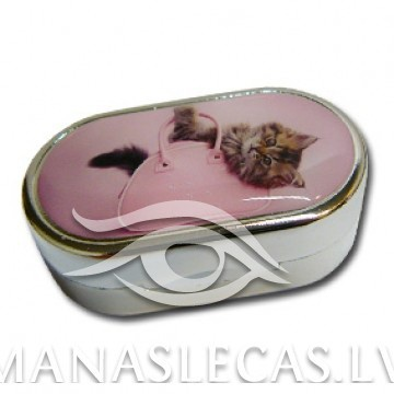 Contact lens case Cat and purse picture